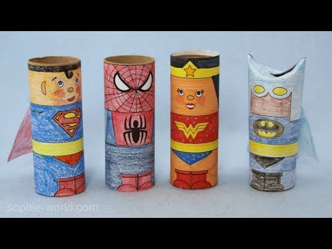How to Make a Superhero from a TP Tube | Sophie's World