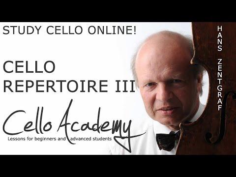 Learn the Cello Online   Cello-Repertoire III : Beethoven's A major sonata