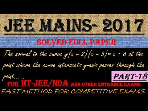 JEE MAINS - 2017 SOLVED MATHEMATICS Part -18 || ALSO IMPORTANT FOR NDA AND OTHER ENTRANCE EXAMS||