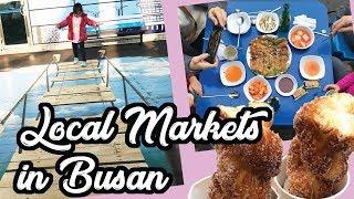 Download Gukje Market Street Food & Jagalchi Market - Busan South Korea Family Travel Vlog Video
