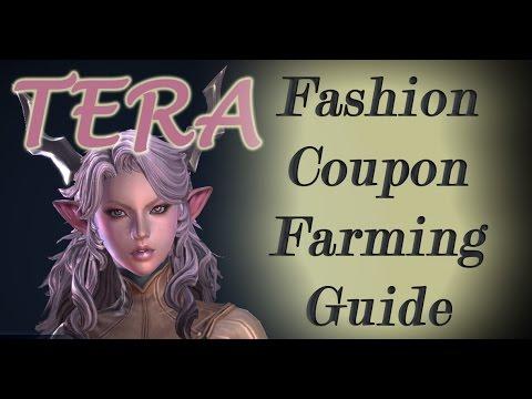 TERA Fashion Coupon Farming Guide - FREE Tera Costumes