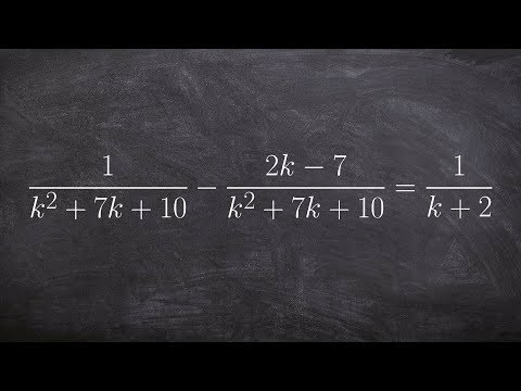Solve an equation with a rational term