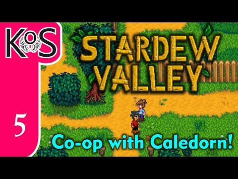 Stardew Valley MP! Ep 5: THE ELUSIVE CRABS - Co-op with Caledorn - Let's Play, Gameplay