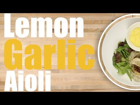 Lemon Garlic Aioli Sauce Recipe