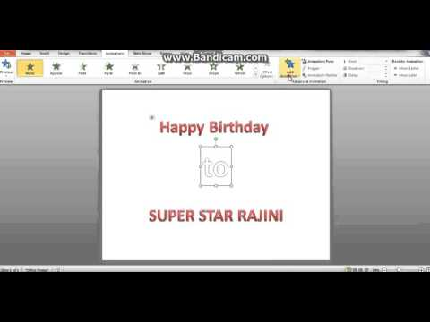 Create BirthDay wishes video using ppt