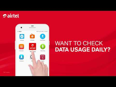 Check data usage daily with My Airtel App