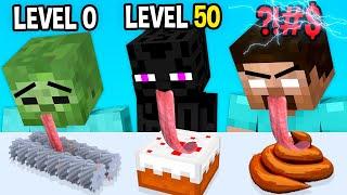 Monster School: Lick Runner Mobile Game Max Level LVL Noob Pro Hacker  - Minecraft Animation