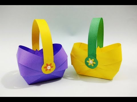 DIY Paper Basket : How to Make a Paper Basket for Easter | Christmas Gift Basket | Craftastic