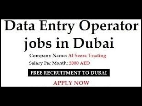 Jobs in Dubai / Data Entry Operator or Document Controller Jobs / Urgent Requirement / 2018