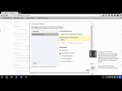 Changing Language Settings on a Chromebook and Typing in Spanish