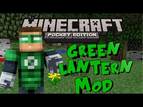 Green Lantern Mod - Become The Green Lantern! - Minecraft Pocket Edition   0.10.5