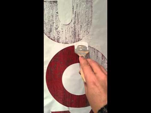 Jennifer Allwood: Painting Barnwood Letters