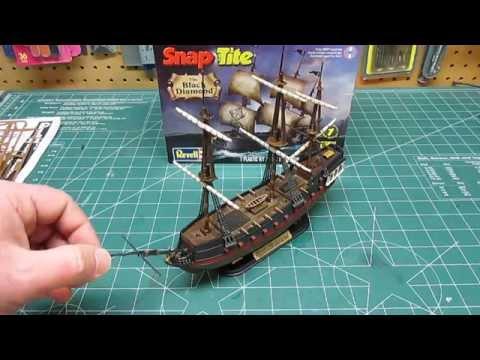 Revell 1/350 Snap Pirate Ship Black Diamond Model Kit Open Box Review