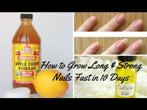 How to grow your nails fast,long and strong in just 10 days / DIY cuticle oil