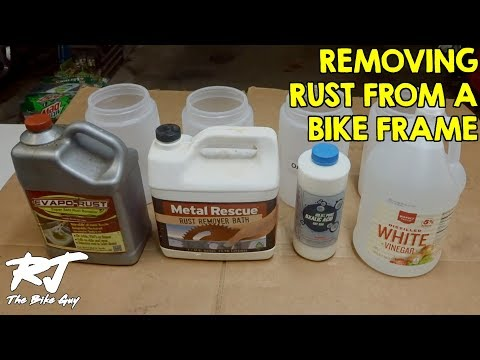 Rust Remover Test For Bike Frames - Effects On Rust & Paint