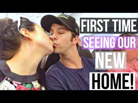 FIRST TIME SEEING OUR NEW HOUSE!