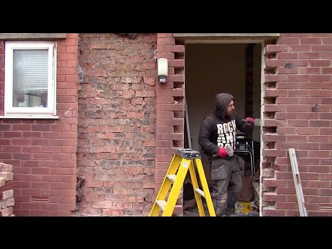 How to move and brick up a door