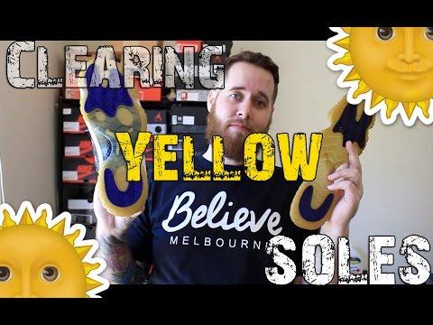 How To Deoxidize Jordan Soles (Yellow Clearing) | xChaseMaccini