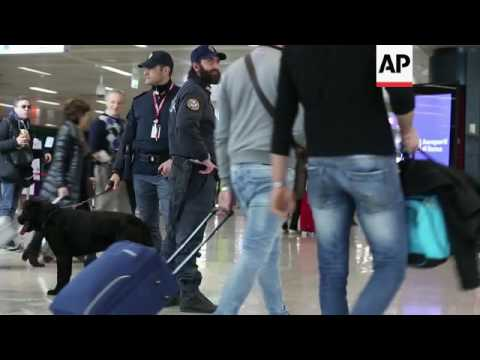 Security measures at Rome airport