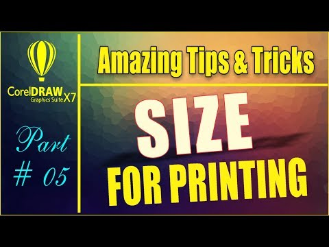 Coreldraw x7- Amazing Tips & tricks - How to Adjust Printing Area Befor printing by as graphics