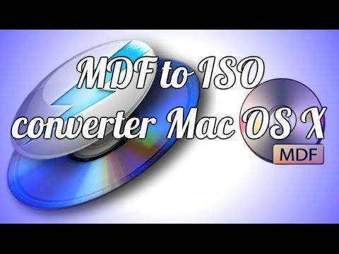 Как конвертировать образ MDF в ISO converter Mac OS X