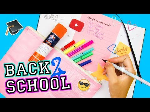 DIY BACK 2 SCHOOL SUPPLIES | Duct Tape Pencil Pouch, Custom Notepad & Pencil, Heart Clips...