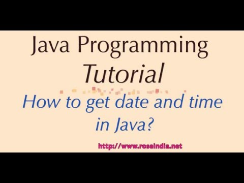 How to get date and time in Java?