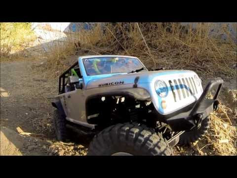 RC Rock Crawler Axial SCX10, Jeep Wrangle Unlimited Rubicon, Mobil Play