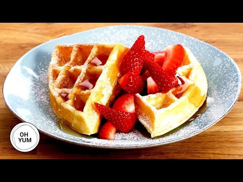 Big Buttermilk Breakfast Waffles - Oh Yum with Anna Olson