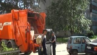 Работа мусоровоза KBR-P20K
