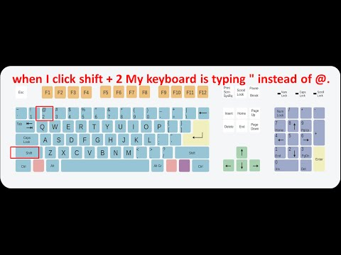 when type shift + 2 keyboard is typing