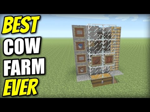Minecraft PS4 - SEMI AUTO COW FARM [ BEST EVER ] Tutorial - PE / Xbox / PS3 / Wii U