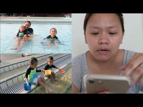 VLOG #1309: JOB HUNTING? + BIGLAANG SWIMMING! (Feb 26, 2018) | PINOY IN SINGAPORE