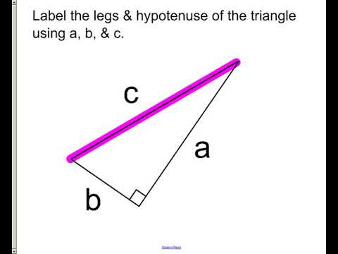 Lesson - Pythagorean Theorem