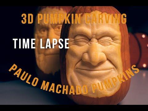 Paulo Machado 3D Pumpkin Carving #3 Time Lapse