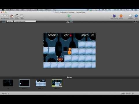 Gamesalad Platformer Game Tutorial Series