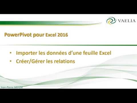 PowerPivot pour Excel 2016