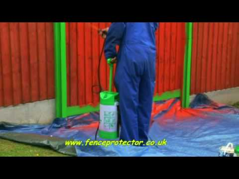 Fence Protector - How to paint fence panels with concrete posts