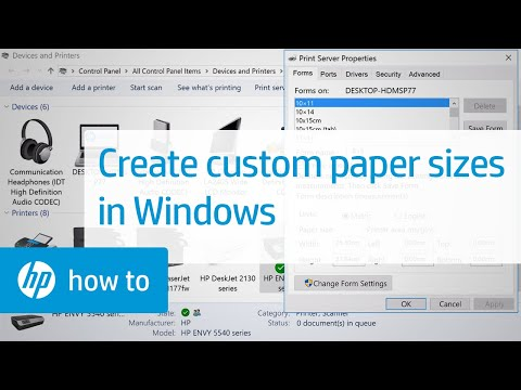 Creating Custom Paper Sizes for Printing in Windows