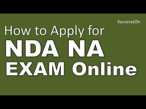 How to apply for NDA Exam Online   NDA Application 2016