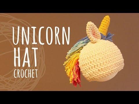 Tutorial Easy Unicorn Crochet Hat | All sizes