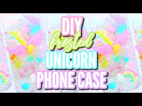DIY 3D FROSTED UNICORN PHONE CASE | Decoden Tutorial