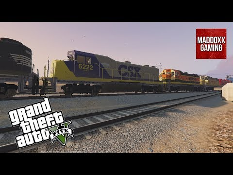 N.S + CSX + BNSF + Union Pacific + CP Engines in GTA 5 | 1440p 60 Fps | MaddoxxGaming