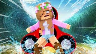 TSUNAMI VS FIDGET SPINNERS CHALLENGE! Minecraft Little Kelly