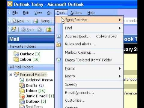 Microsoft Office Outlook 2003 Change the mouse cursor when messages arrive