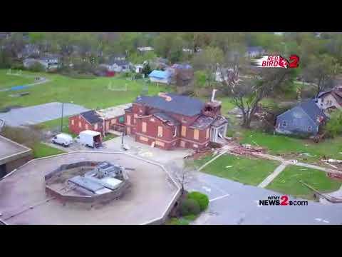Red Bird 2: Drone Video Of Greensboro Tornado Damage Along Bessemer Avenue