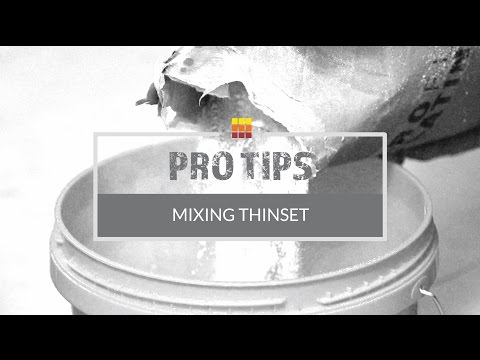 How To Mix Thinset For Your Next Tile Project - The Tile Shop