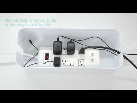 In-Box Cable Box Organizer to Hide Powerstrip Under Desk | UT Wire