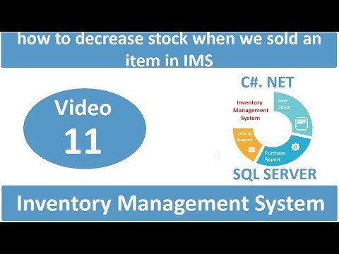 how to decrease stock when we sold an item in IMS