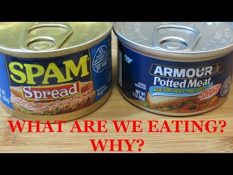 SPAM Spread vs. Potted Meat Throwdown!! - WHAT ARE WE EATING?  WHY??